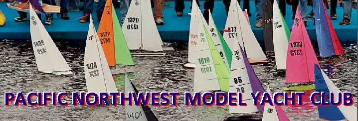 We sail T-37 radio-controlled racing sloops.